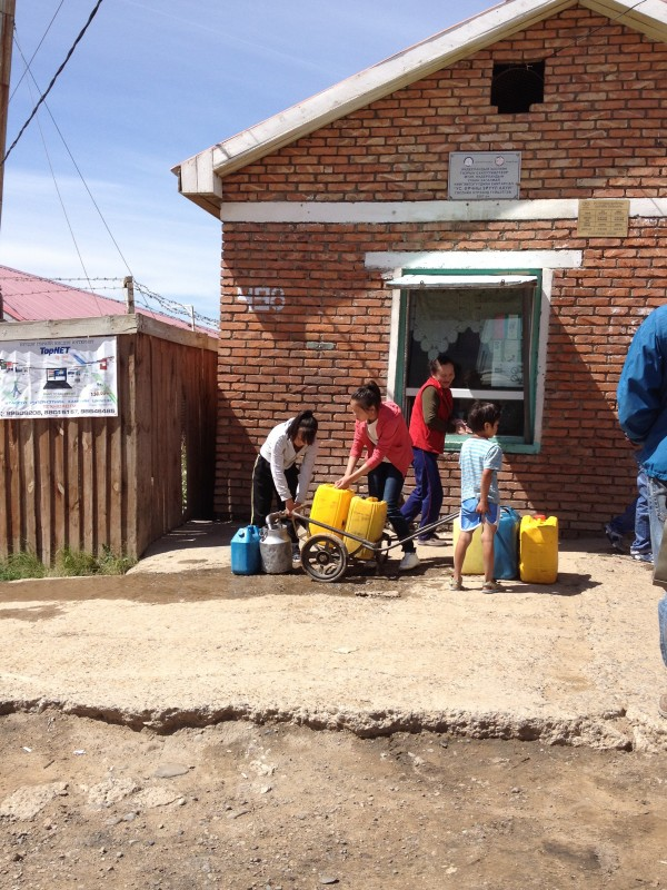 image of water station in ger district
