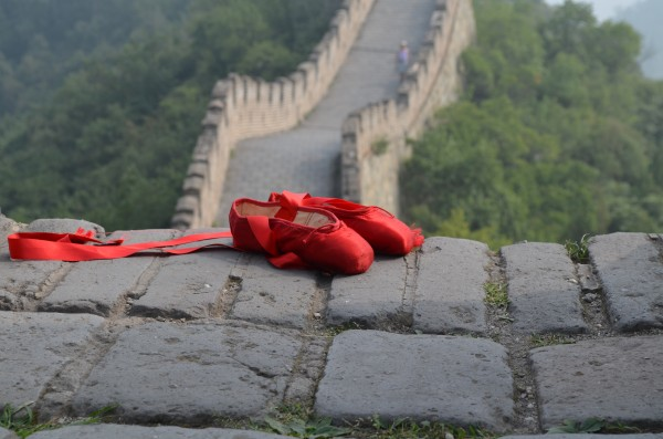 image of red shoes at The Great Wall Mutianyu SYP